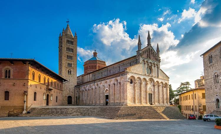 "Massa Marittima - The name of Massa Marittima is misleading, with the adjective ""marittima"", which means ""maritime"" in Italian, seeming to refer to the vicinity of the ocean."