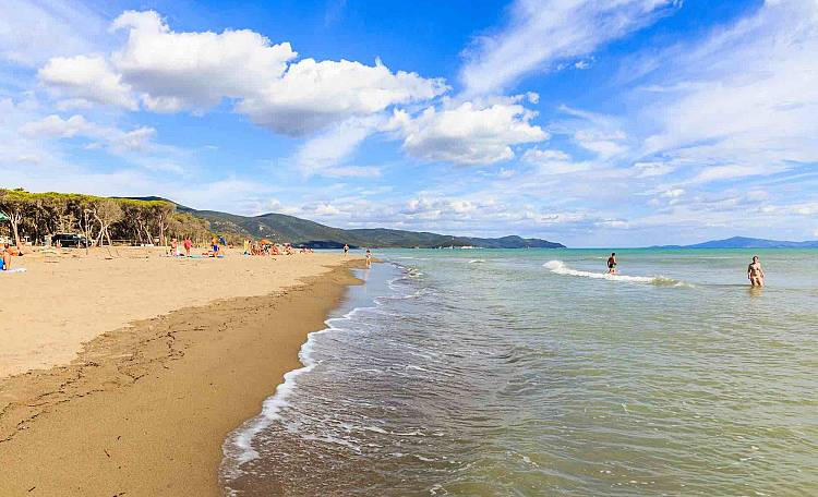 The Beach of Marina di Alberese -