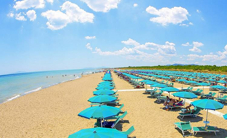 The Beach of Marina di Grosseto -